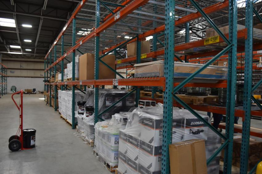 The 28,000-sq.-ft. facility allows for a massive commitment to parts inventory.