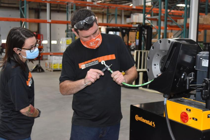 The new hydraulic department can custom manufacture hoses for all makes and models of machines.