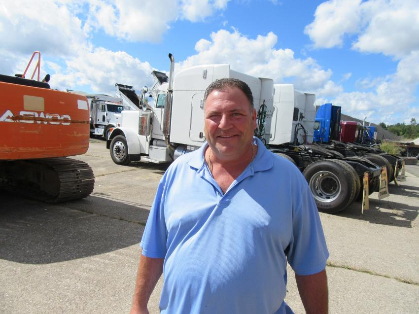 In for the auction from Cleveland, Ohio, Anthony Frato of Frato Products was pleased to have placed the winning bids on a sweeper and a dump truck.
