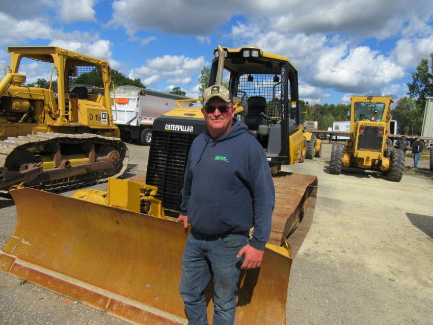 Dwyer Plumbing & Excavating's Greg MacQuarrie purchased a pressure washer and water truck at the auction.