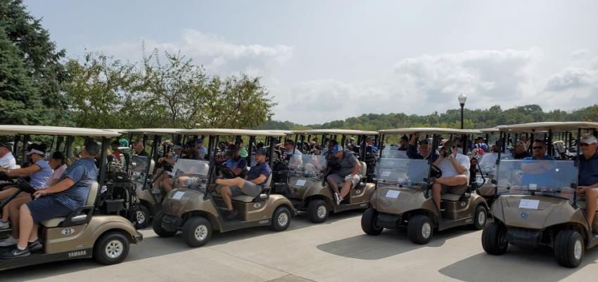 Players are ready to tee off at IAAP's annual Golf Outing.