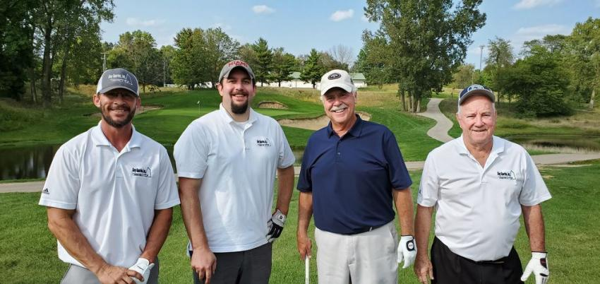 The Gray Quarries team of (L-R) Brent Gooding, John Kanney, John Filkins and Tom Coulter are having a good day at the golf outing.
