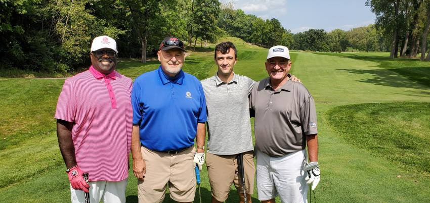 (L-R) are Pete Micks of Peoples Gas; Rick Soroka, Billy Quirke and David Leduc, all of Vanguard Energy Services.