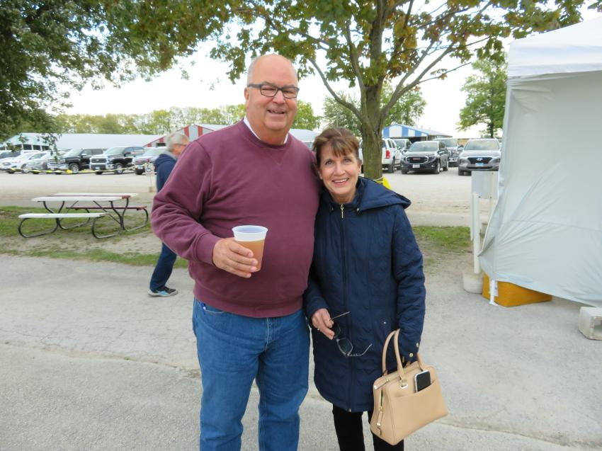 Bob and Jeanne Baish, owners of Baish Excavating Inc., enjoyed the fall weather. Bob is a board member of CAWGC.