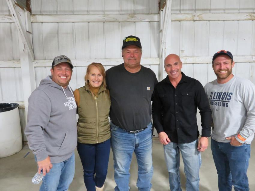 Having a great time at Oktoberfest (L-R) are Chris LePretre Jr., his parents Lynn and Chris LePretre Sr., owners of LePretre Excavating Inc.; Vince Blecha of Welsch Ready Mix Inc.; and Tyler LePretre, also of LePretre Excavating Inc.