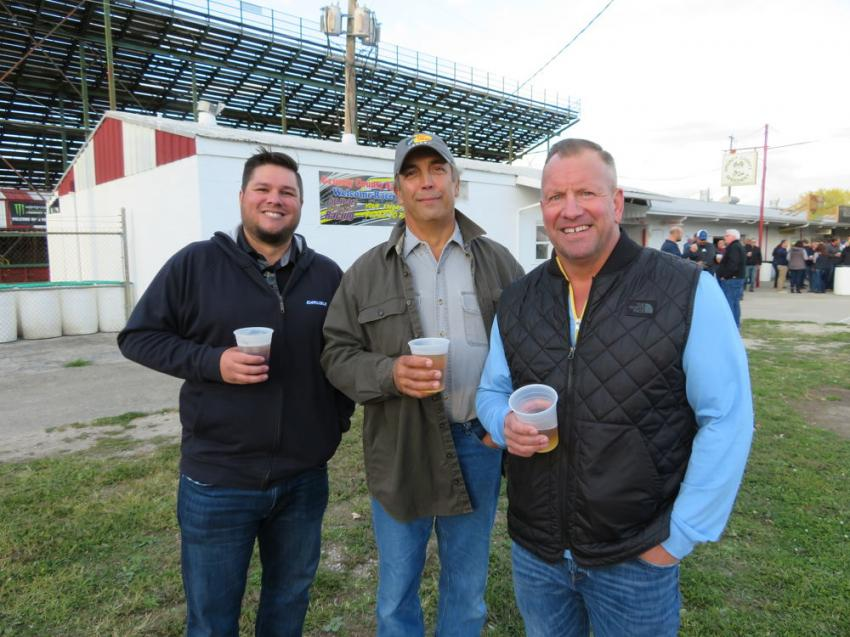 (L-R): Joe Adler of Adler Roofing; Mike Ceranski, retired; and Pete Valek of Lindblad Construction Co. were on hand for CAWGC's first-ever Oktoberfest.