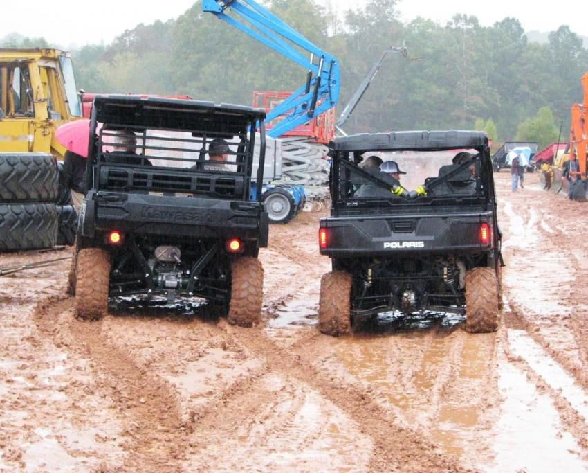 Bidders from all over the South come super-prepared by packing their rain gear and 4 x 4's before making the trek to this sale.