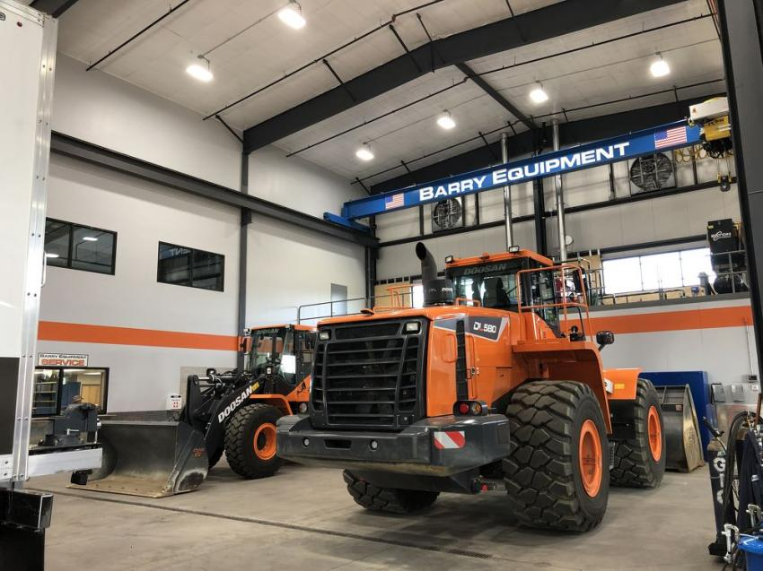 Barry Equipment's new Webster, Mass., facility is equipped with two 10-ton overhead cranes, making light work out of the heaviest projects.