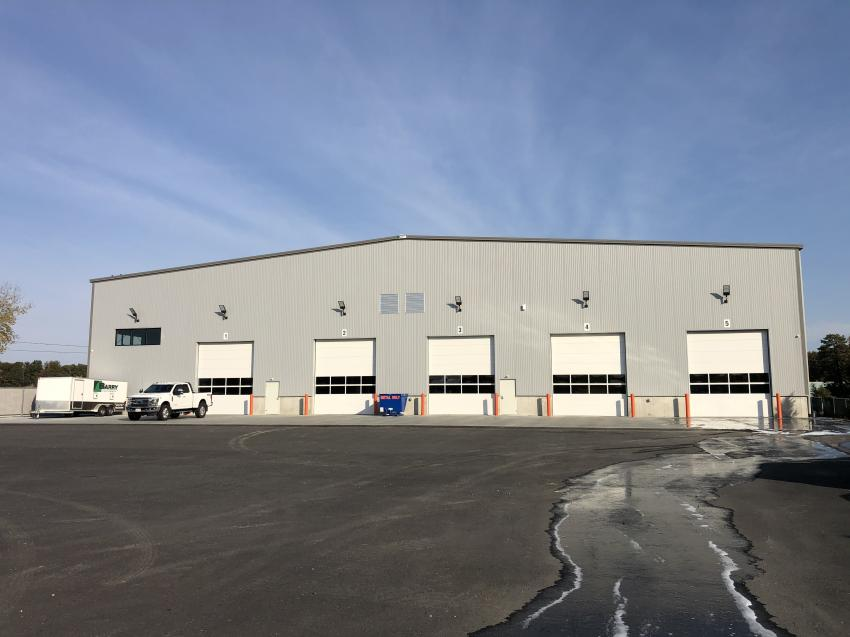 Located only 2 mi. from Barry Equipment's corporate headquarters, the new service center features five bays on a 10-acre site with plenty of room for future growth.