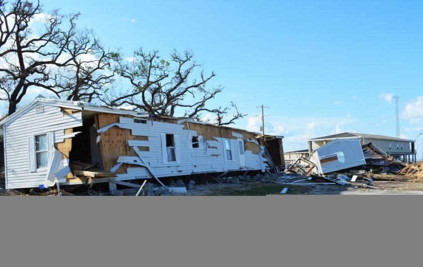 Destruction in the Cameron, La. area was catastrophic as nearly all homes were destroyed.