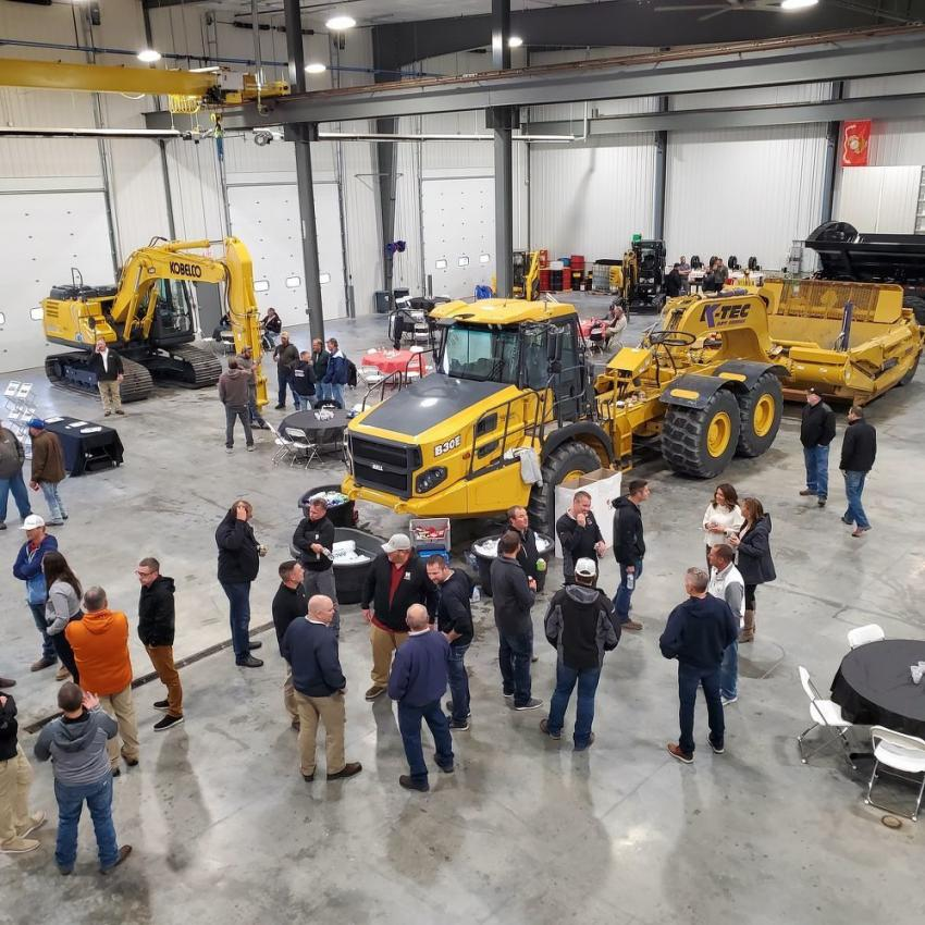 On display was a Bell truck with a K-Tec scraper attached; John Deere dozers; Hitachi wheel loaders; SANY mini-excavators; and Gehl skid loaders.