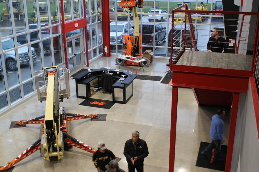 Equipment is on display in the lobby of Mid Country Machinery's newest location — 3509 Franklin Street S, Bondurant, Iowa.