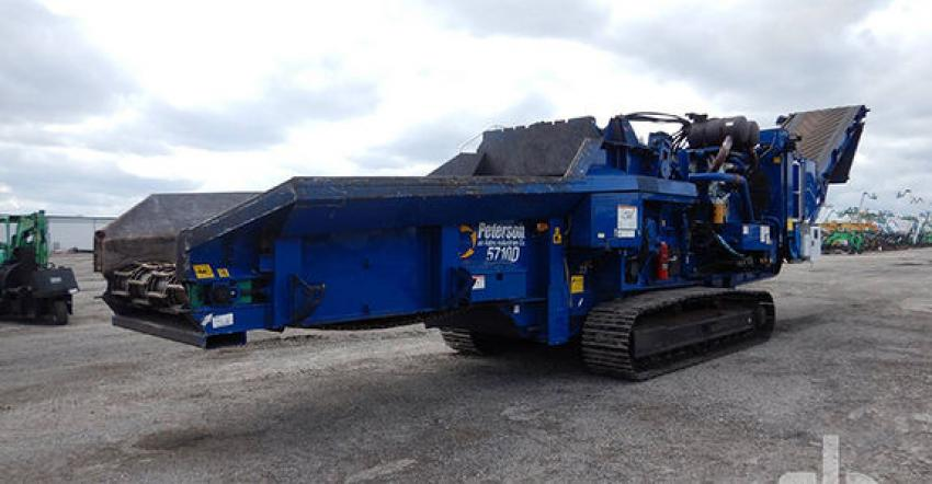 The biggest ticket item sold at Orlando 2021 was this 2017 Peterson 5710D crawler horizontal grinder (lot #1456) that sold on opening day for $630,000 to an online buyer from Georgia.