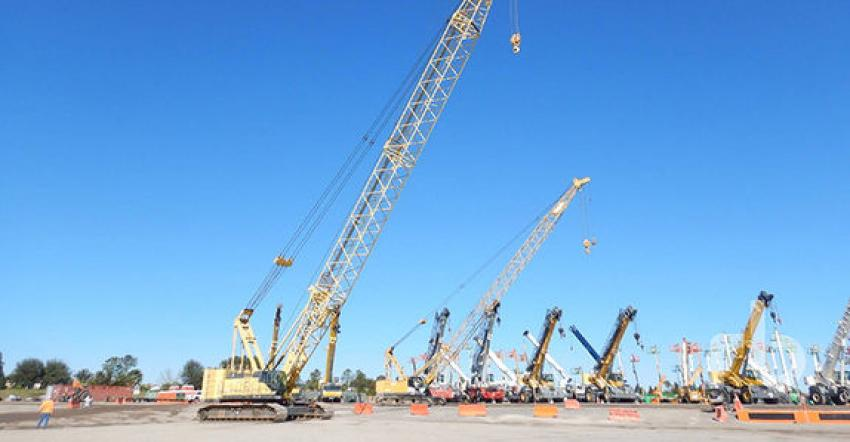 Orlando's top-selling crane was this 2012 Kobelco CK1600G 160 ton self-erecting crawler crane (lot #2054) that sold for $435,000 to a Florida buyer.