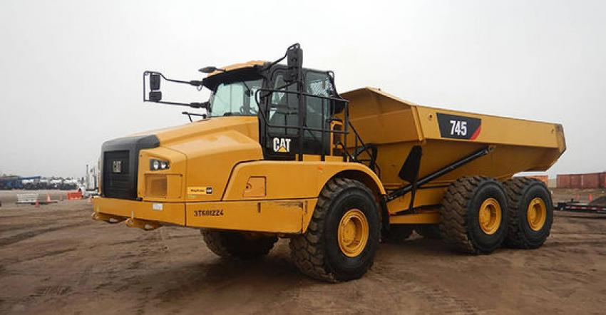 The biggest ticket articulated dump trucksold at Orlando this year was this 2019 Caterpillar 745 6x6 (lot #1191) that sold to a buyer from Ontario, Canada, for $290,000.