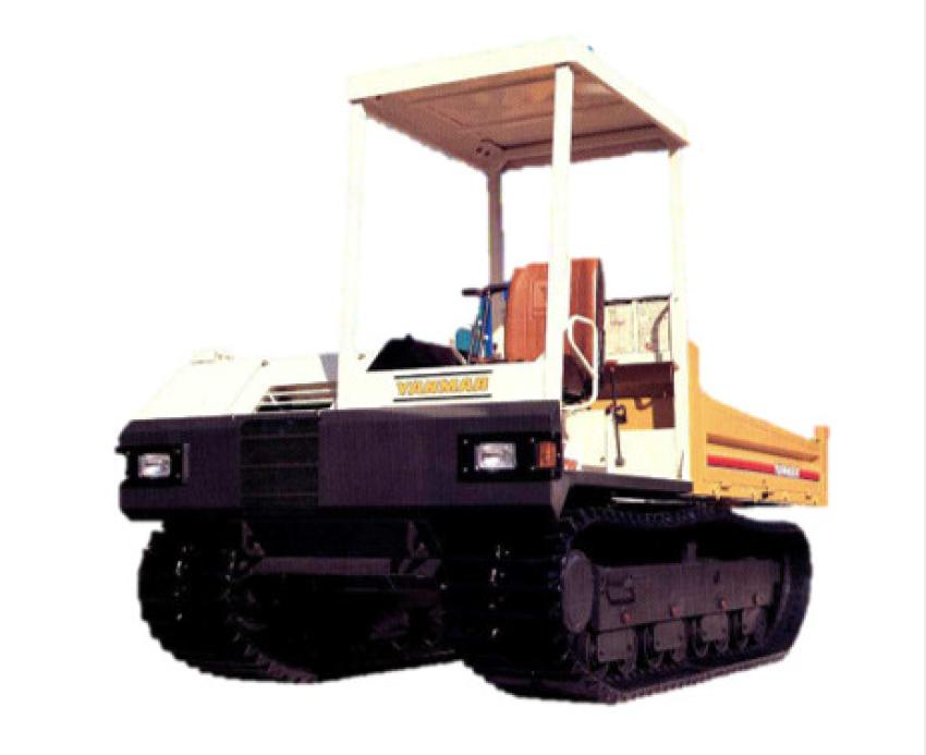 1985: Equipped  with  a  64-hp Yanmar  vertical  water-cooled  four-cylinder diesel engine, the YFW40R was launched in pursuit of not only running  speed  and  power,  but  also  comfort and  used a large  rubber crawler to reduce operator fatigue in a highly maneuverable HST. This model was the prototype for the C50R, which is still sold today.