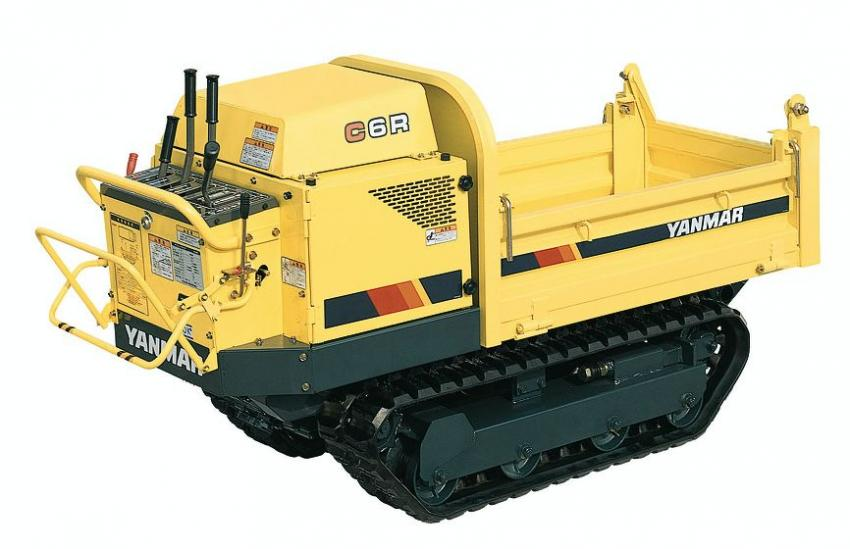 1990: The C6R was a  790 mm  wide  mini  carrier  specially  designed  for  civil engineering and suitable  for  urban renewal  in densely  populated residential neighborhoods and  narrow  alleys. With  the  power  and sturdy design of a construction machine, it was used for a wide range of tasks from civil engineering work to landscaping and forest road work in narrow areas where small pick-up trucks could not go.