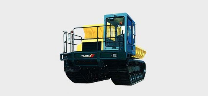 1996: The largest tracked carrier in Yanmar's history, the C120R is a 240-hp, 11-ton load, large carrier that combines power and speed to meet the expectations of professionals. The C120R emphasizes strength, durability and operability from its basic structure through to every detail of the undercarriage