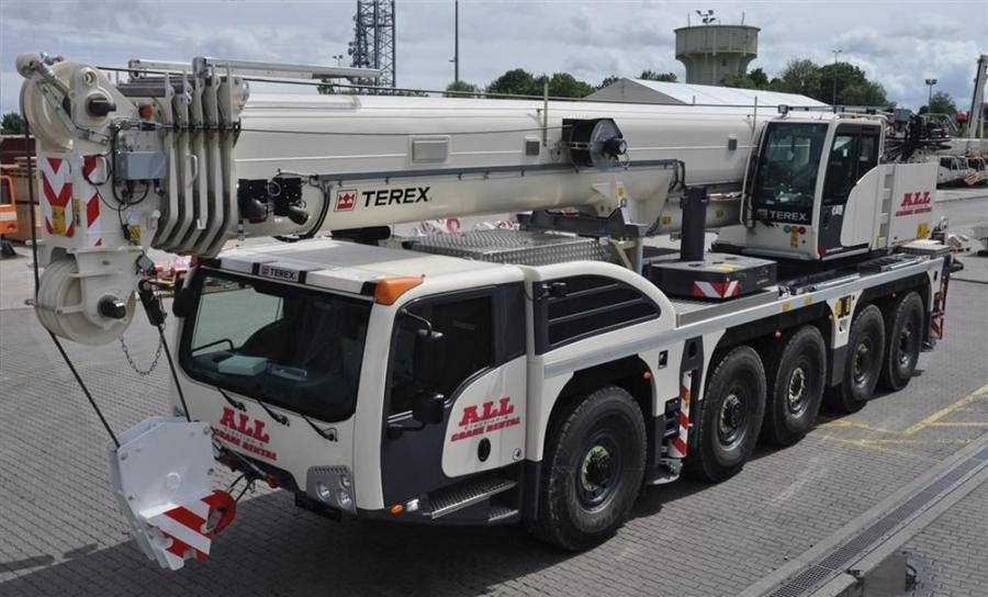 The package of Terex cranes includes (2) Explorer 5500 (140 USt/127 mt), a new all-terrain crane introduced by Terex last fall, and the most compact AT Terex has produced.