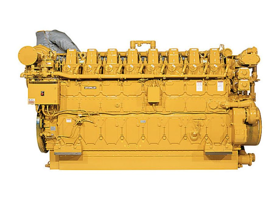 A combination of G3608 engines (pictured) rated at 2,370 hp and G3612 engines rated at 3,550 hp will be used to support natural gas gathering operations across the Utica Shale and Marcellus Shale formations.