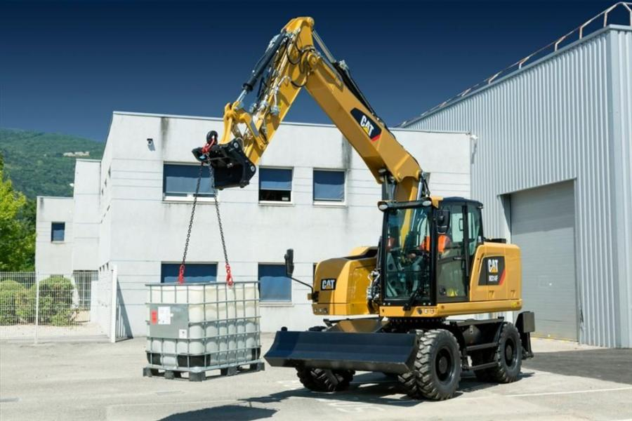 The CAT314F Series Wheeled Excavator.