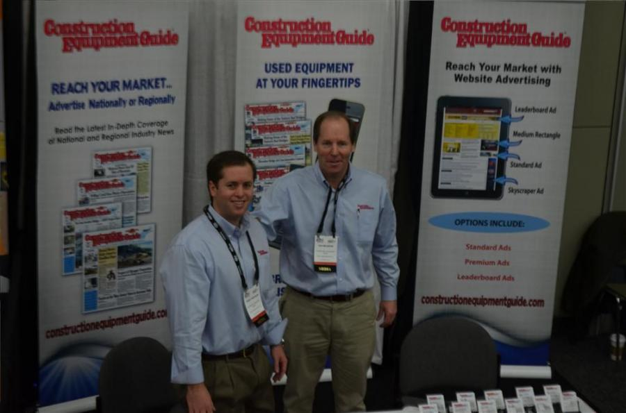 CEG's Teddy McKeon (L) and Ted McKeon at the World of Asphalt 2015.