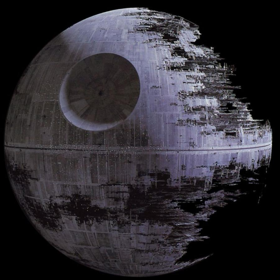 The cost of the steel for the death star would be about half a quadrillion dollars.