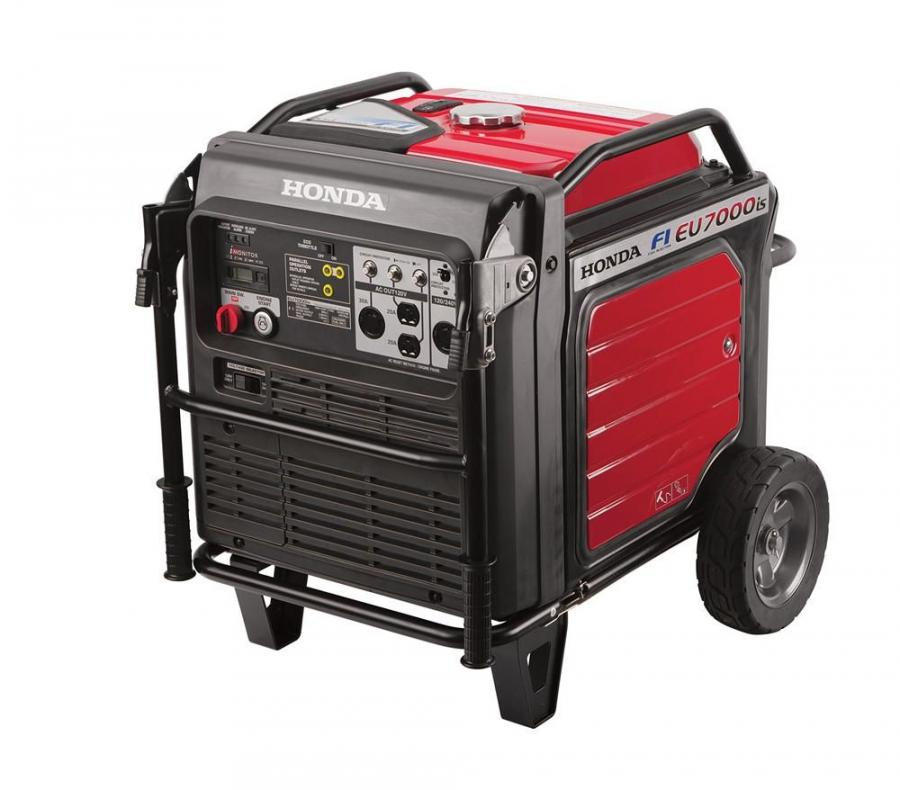 At this year's venue at the Las Vegas Convention Center, the Honda Power Equipment team showcased its all-new Super Quiet Series EU7000is portable generator at its booth #3484.