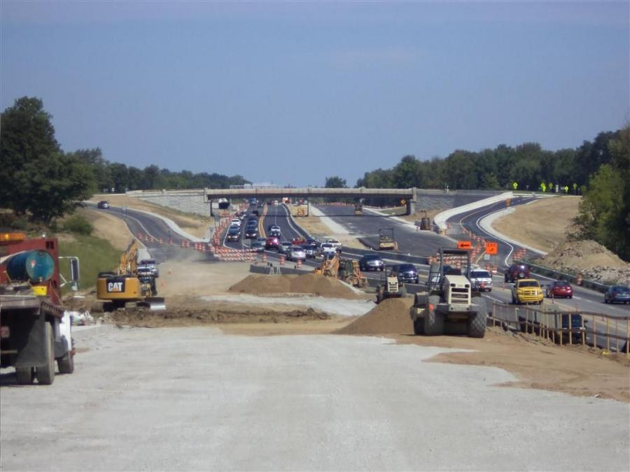 Because so many freight-hauling trucks use the road, it was important for INDOT to have a road base that can withstand the daily impact of so much weight, combined with the freeze/thaw cycles during the winter.