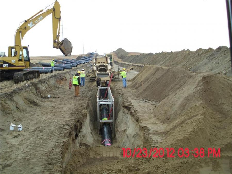 S.J. Louis Inc. tackled just over 30 mi. (48 km) of the Western Area Water Supply Project (WAWSP) that includes hundreds of mi. of pipe to take water from the Missouri River to meet municipal, rural and industrial water needs in several counties, includin