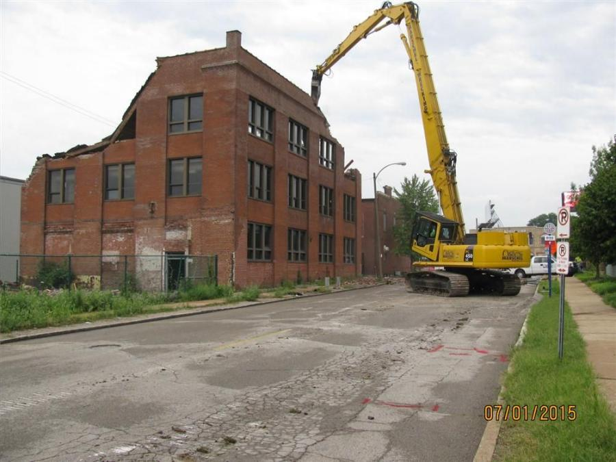 Sean Kilian, Kozeny-Wagner's project manager, said that his crews started the preliminary work in May to prepare for the first phase of the demolition.