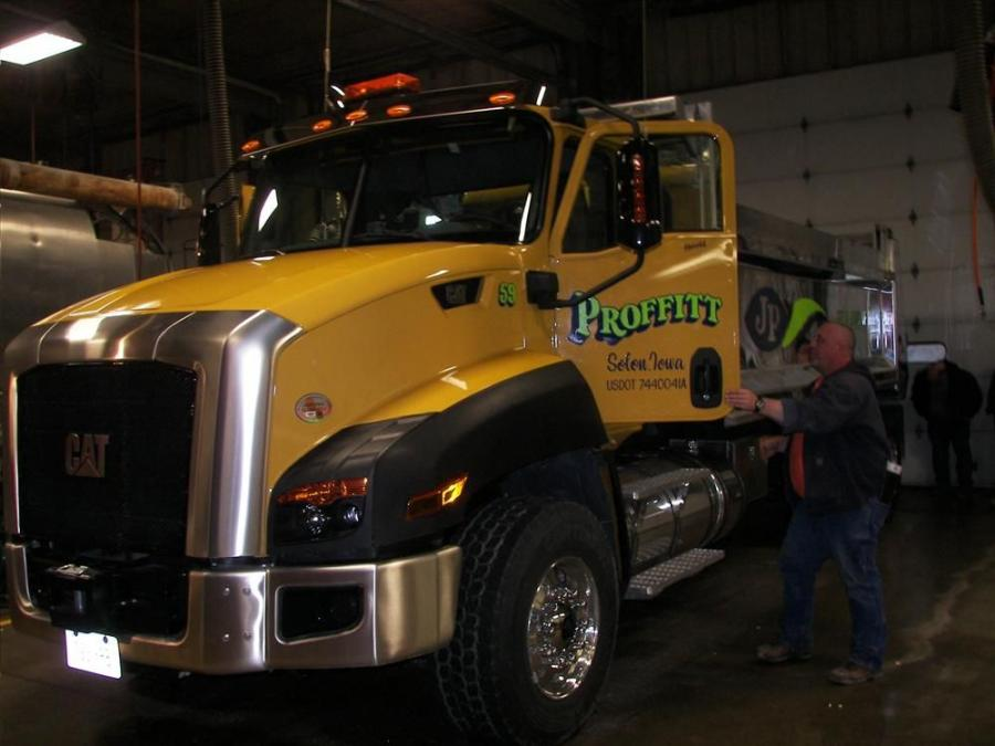 Chuck Egan of Solid Waste Agency, Cedar Rapids, Iowa, is looking to add another articulated Cat truck to his company's fleet.