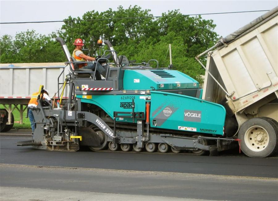 Award-winner pavements were made possible by skilled crews working with new, versatile 10-ft. (3 m) paver.
