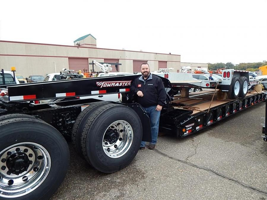 Bob Pace, Towmaster trailer and territory representative, brought out the big rigs. On hand is the company's T110 DTG 110,000 lb. capacity lowboy trailer.
