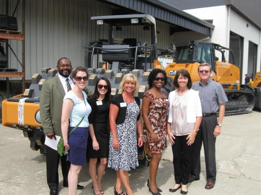 Scott Love of the Metro Development Center and Jeffersontown City Chamber representatives stopped by to congratulate Bale Equipment Solutions.