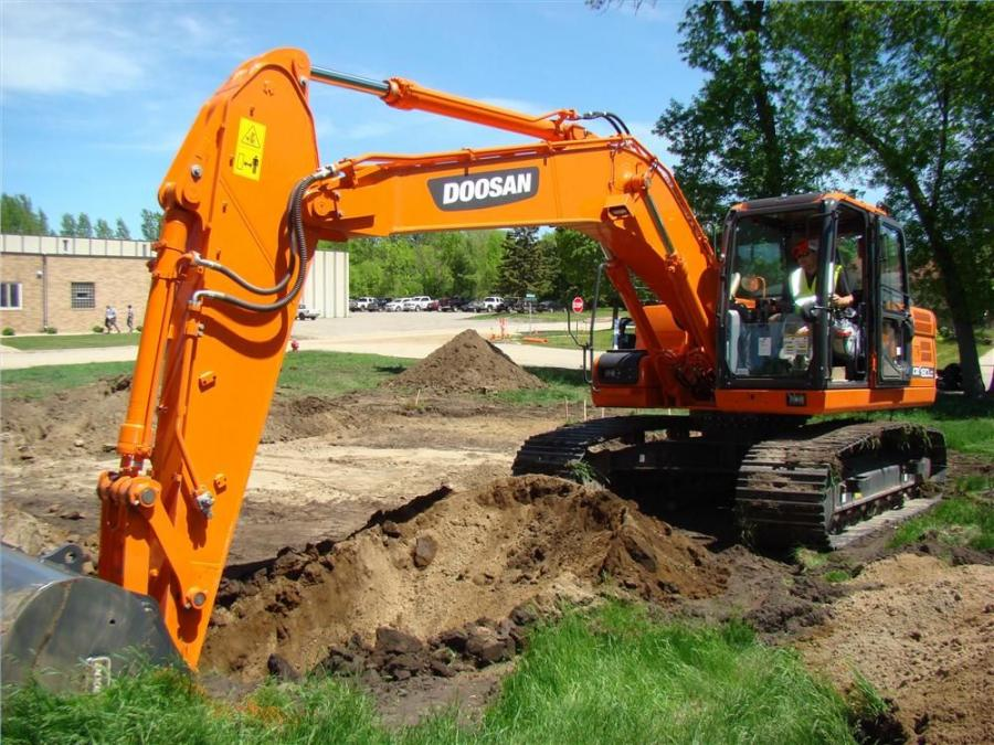 In many cases, Bobcat skid steer loaders, compact track loaders and other machines were used in the efforts, outfitted with everything from buckets to augers and other dirt-moving and land-shaping attachments. Doosan heavy equipment also was used on some