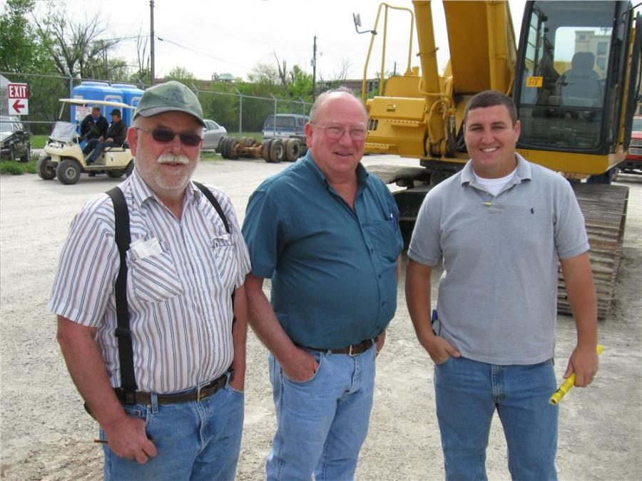 (L-R): Dave, Paul and Josh Kemper, Kemper Construction, stopped by looking for some bargains.