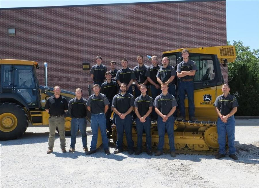 (L-R, top row): Wade Edgington, Paton Heusinkvelt, Tyler Litchkey, Dylan Axline, Jeff Brandt, Charles Fitz and Troy Talbert. (middle row): Taylor Wenzl. L-R, bottom row): Keith Tempel, instructor, Southeast Community College;  George Stewart; Ethan Fielde