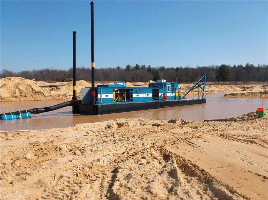 This dredge project started at a site that has no natural flowing source of water. All of the water used by the operation is sourced from groundwater and precipitation.