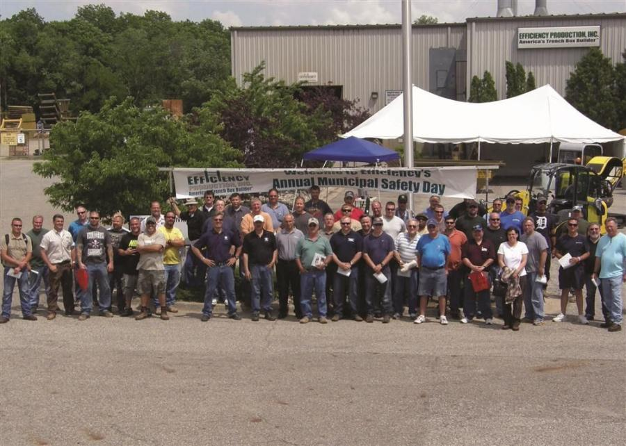 Ninety DPW and Water Department workers from more than 36 Michigan municipalities attended Efficiency Production and Michigan Rural Water Association's 2013 Municipal Safety Day.