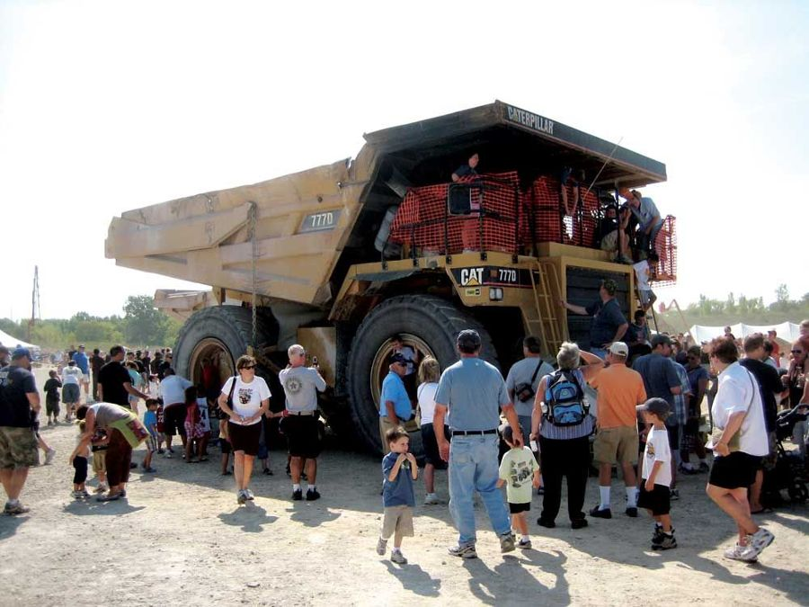 A Cat 777D mining truck drew large crowds all day long at Dozer Day 2009.