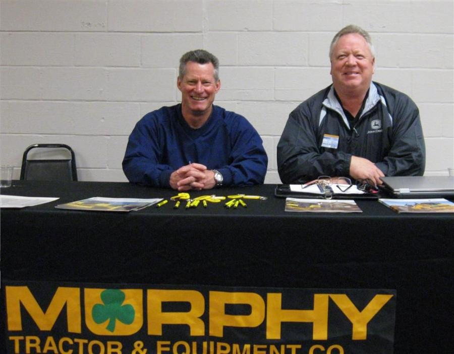 Murphy Tractor & Equipment's Dean Bradley (L) and Mark Hash were ready to discuss John Deere's line up of equipment.
