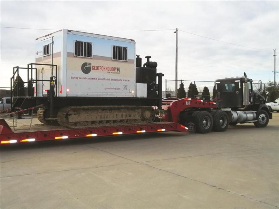 Geotechnology Inc. has purchased a Cone Penetration Testing (CPT) Rig, becoming the only geotechnical services firm in the region to own such equipment.