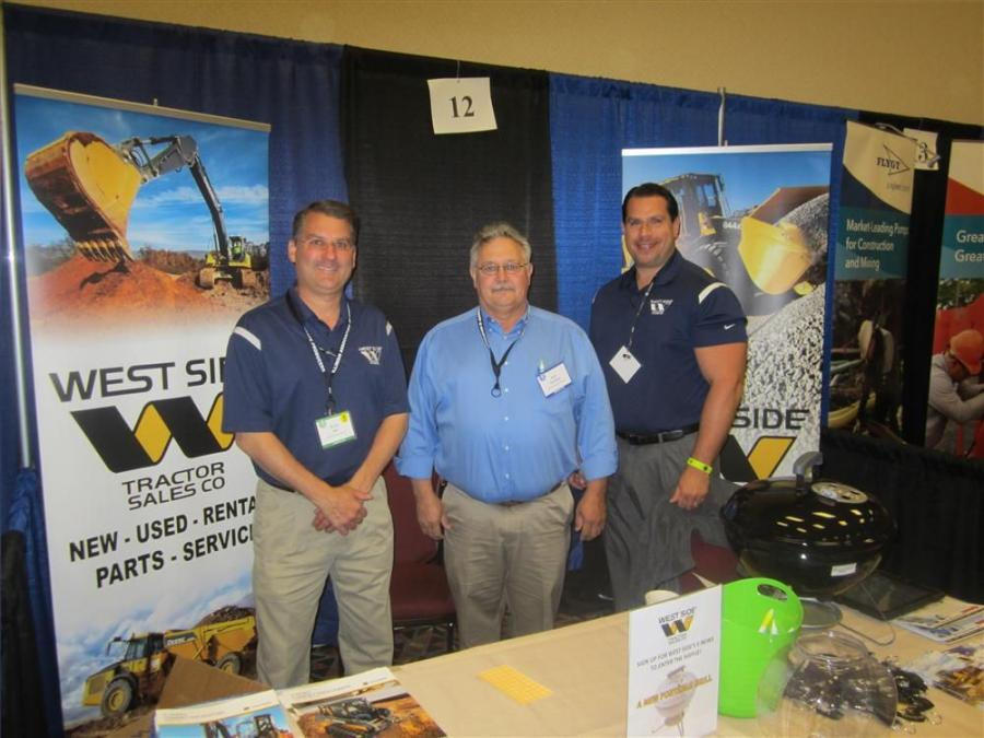 (L-R): Kelly Barr, West Side Tractor Sales Co. Inc.; Rob McMahan, Vulcan Materials Co.; and Peter Passas, West Side Tractor Sales Co. Inc.