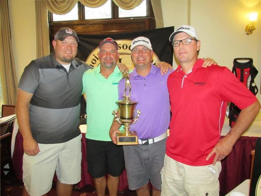 First place honors went to the Central Stone team of Darin Roland, Art Roland, Chris Dugeon and Chris Koch with a score of 60.