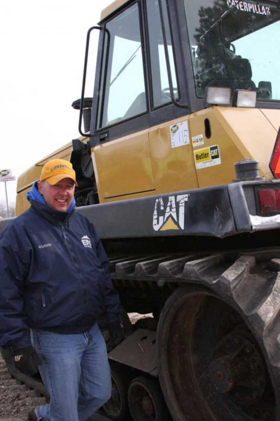 Doug Nesja of Environmental Resource Group in Steamboat Springs, Colo., is looking at this Cat Challenger 75 and several other pieces of equipment.