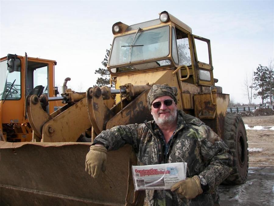 All the way from Sioux Falls, S.D., loyal CEG reader Butch Barney of Barney's Auto & Equipment is glad he made the trip as he picked up this 75B Michigan loader during the sale.