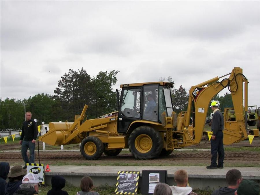 A nice display of equipment was on hand like this Cat TLB 416C that went for $17,250.