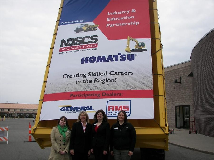 (L-R): Sarah Hoffbeck, content marketing specialist of NDSCS; Barb Spaeth, Baum NDSCS; Janess Sveet, communications manager, NDSCS; and Tammy Fogle, NDSCS.