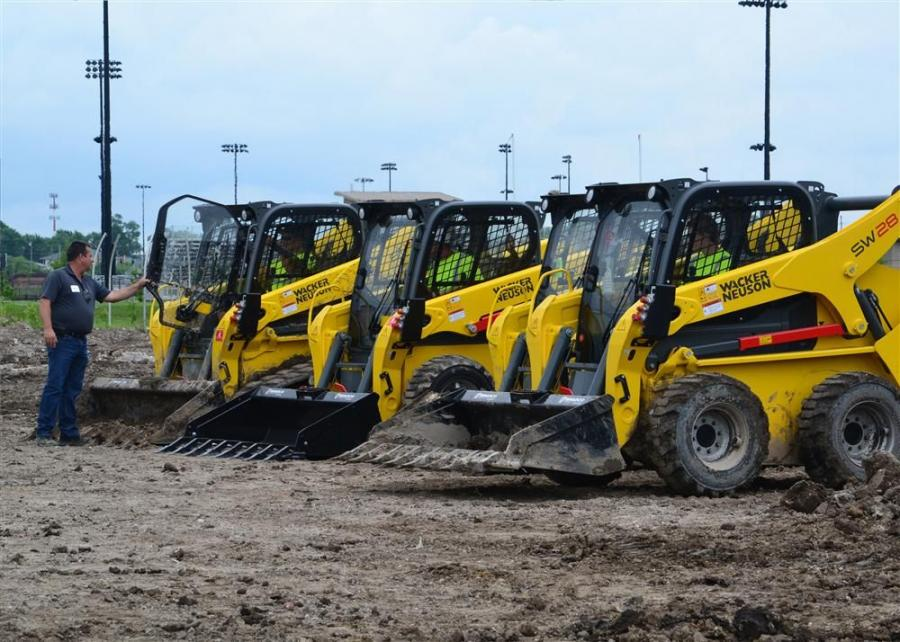 Wacker Neuson introduced new skid steer and compact track loaders to the market 2014.  Logan Contractors Supply, Des Moines, IA hosted a Demo Day to allow local contractors the opportunity to operate the new loaders along with other Wacker Neuson equipmen